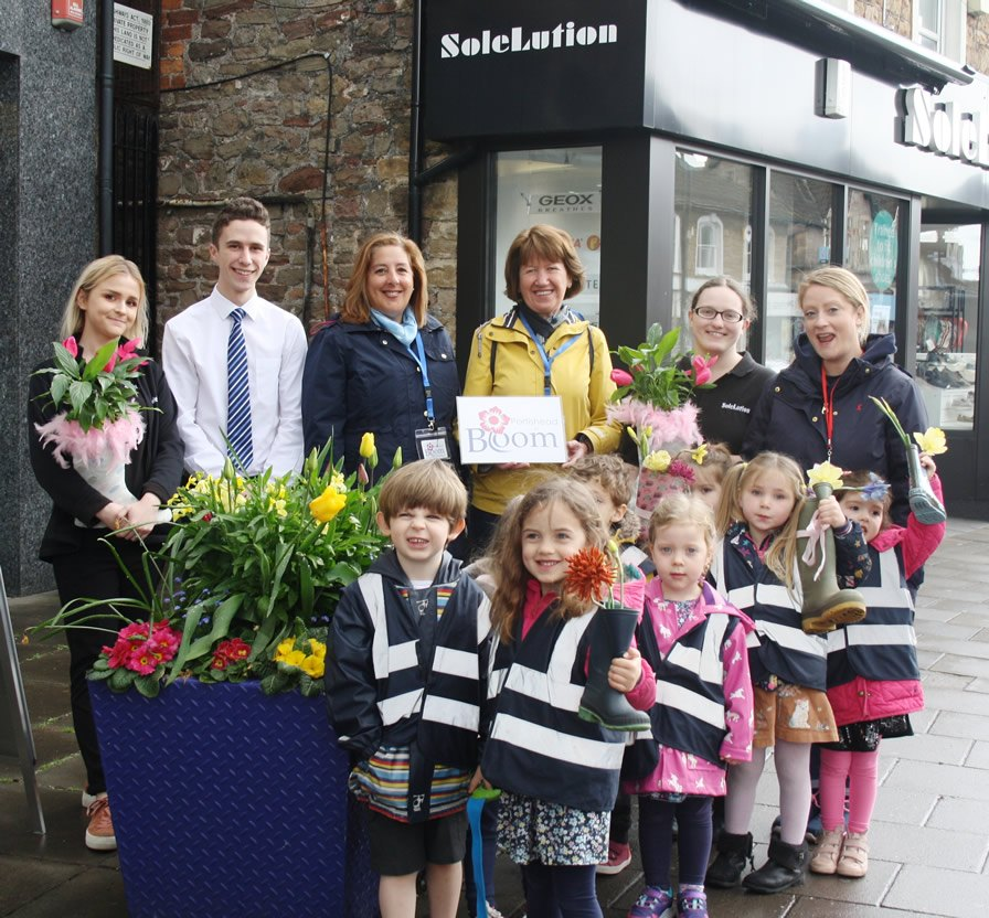 Photo of the launch of the Plant A Welly competition