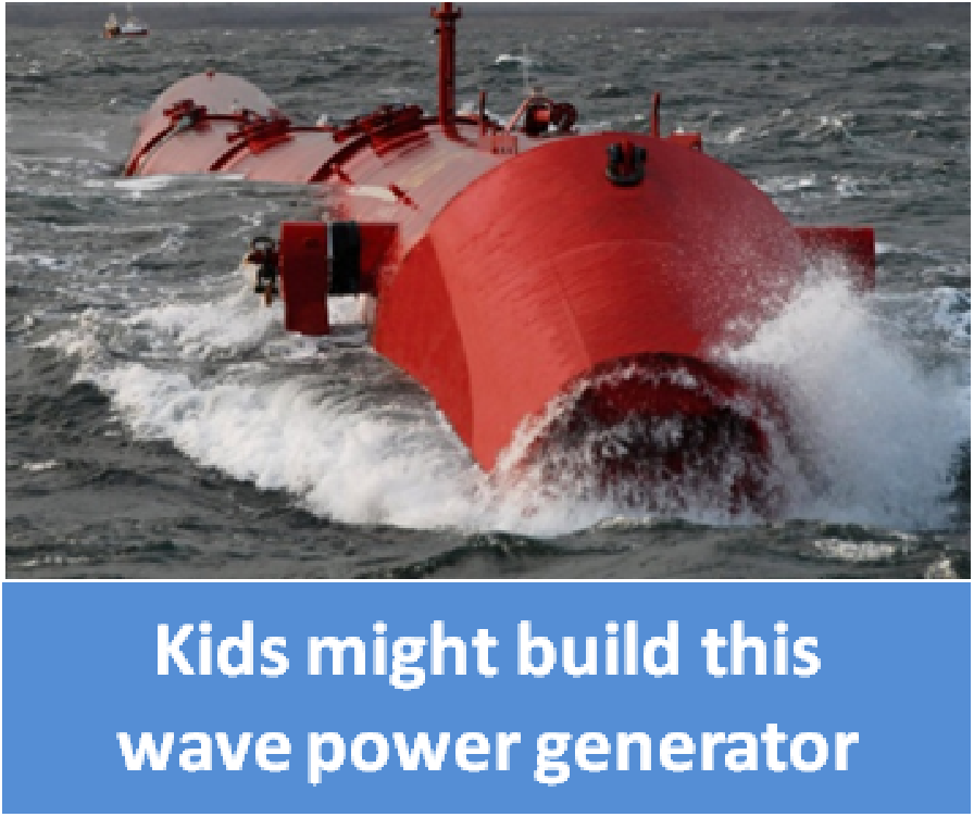 kids might build this wave power generator